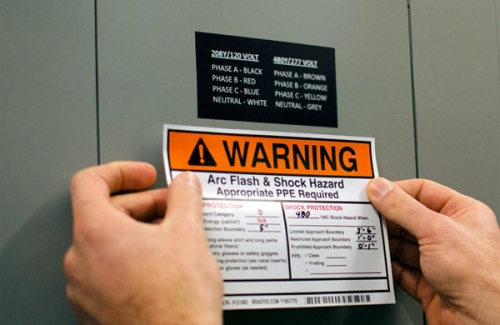 Arc Flash Label Applied in the Field