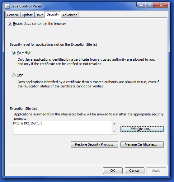 Click image for larger version.  Name:java-security-exception-list.png Views:954 Size:44.9 KB ID:148